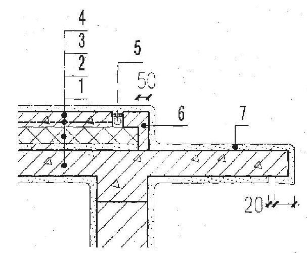 摘 要:本文根据屋面结构层的种类,分析了水进入和流出屋面结构层的窜流路径,提出了治理屋面渗漏的原则。   在渗漏工程的治理过程中,我们常常遇到水在屋面结构层上窜流的情况.如果不能正确分析水的窜流路径、准确查找渗漏原因,很难达到根治渗漏的目的。本文根据渗漏工程治理经验,分析水在结构层上的窜流路径,并为治理屋面渗漏、防止窜流提出原则性建议,不妥之处,还望诸位专家学者批评指正。 1 屋面结构层的种类  图1 屋面构造层次   1-结构层 2-保温层 3一找平层 4-防水附加层 5-防水层 6-细石混凝土 7-防